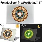 MacBook Pro/Pro Retina Aufkleber, AKPATI Haut Aufkleber Removable Leuchtender Aufkleber Skin Laptop Decal Sticker Abdeckung Abziehbild für MacBook Pro/Pro Retina 15 Zoll - Circle #3 Pattern