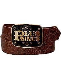 CHIEMSEE Damengürtel pm logo buckle brown /85cm