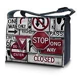 Luxburg® design sacoche sac de messager à bandoulière pour ordinateur portable Notebook 15,6 pouces, motif: Stop