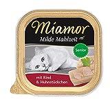 Miamor Milde Mahlzeit Senior - Rind & Huhnstückchen, 16er Pack (16 x 100 g)