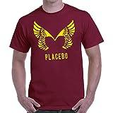 Herren-T-Shirt Placebo - yellow logo T-Shirt indie band 100% Baumwolle LaMAGLIERIA