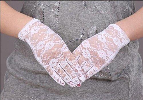 AJUNR-Parties Hochzeiten Party Accessories Handschuhe Neue Lady'S Ausgehöhlt Air Bike Fahren Spitze Handschuhe Handschuhe Braut Decorationswhite
