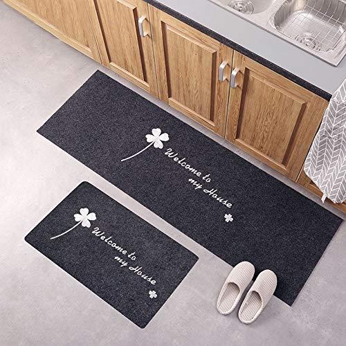 DYHM putztücher Küchenzubehör Fußmatte Tapete Fußmatten Teppich Dünn rutschfeste Küche Bad Teppich Zimmer Pad Bodenmatte Home Fußmatten (Color : MD188)