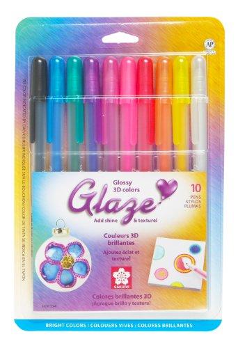 �ck sortierte Glasurfarben Cube Collection 3D-Tintenschreiber-Set Glänzend, Sortiert, 10Pk Bright Set ()