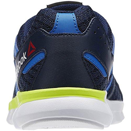 Reebok Sublite Xt Cushion, Chaussures de Running Entrainement Garçon Bleu / jaune (bleu roi collégial / bleu sport / jaune solaire)