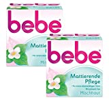 bebe Mattierende Pflege - Sanfte Gesichtscreme mit grünem Tee für Mischhaut - 2 x 50ml