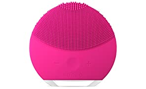 FOREO LUNA mini 2 Facial Cleansing Brush and Anti-aging Skin Care device made with Soft Silicone for Every Skin Type, Fuchsia, USB