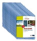 ALCLEAR Poliertücher 2-Seiten-Allrounder für Auto Motorrad & Poliermaschine, Detailing Mikrofaser Poliertuch Set, 20er Set, saugstark 40x40 cm blau
