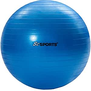 ScSPORTS Gym Ball/Exercise Ball 65cm (Blue) With Dual Action Hand Pump