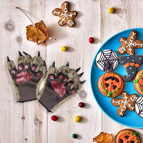 zaote Bear Paws Handschuhe für Halloween Werewolf Orang-Utan Handschuhe Monster Kostümzubehör - Bear Paw Handschuhe Kostüm