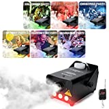 RC Fog Machine with Lights 7 Colour Stage Effect Machines 500W Christmas