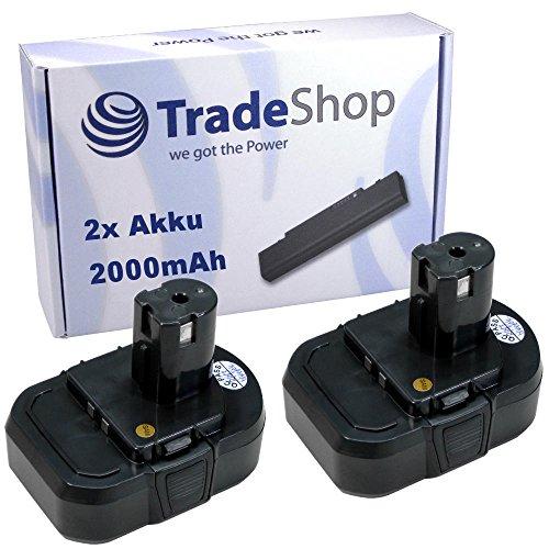 Preisvergleich Produktbild 2x Hochleistungs Li-Ion Akku 14,4V / 2000mAh ersetzt Ryobi BPL1414 BPL 1414 für Ryobi LLCD14022 LLCD 14022