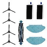 Bagotte Robot Aspirateur, Accessoires de Robot Aspirateur 3-en-1 (4X Brosse Latérale, 2Filtres HEPA, 1x Brosse Principale, 2X Lingettes)