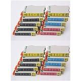 20 x Compatible XL Cartouches d'encres avec puce - T0445 Pack - (4x T0441 + 2x T0442 + 2x T0443 + 2x T0444) pour Epson Stylus C84 / C64 Photo Edition / C65 / C66 / C66 Photo Edition/ C84CN / C84N / C84PE / C84 Photo Edition / C84 Wifi / C84WN / C85 / C86C/ 86 Photo Edition / CX1500 / CX3500 / CX3600 / CX3650 / CX6400 / CX6500 / CX6600 - qualité élevée - SilverTrade GmbH (Silvertrade ©)