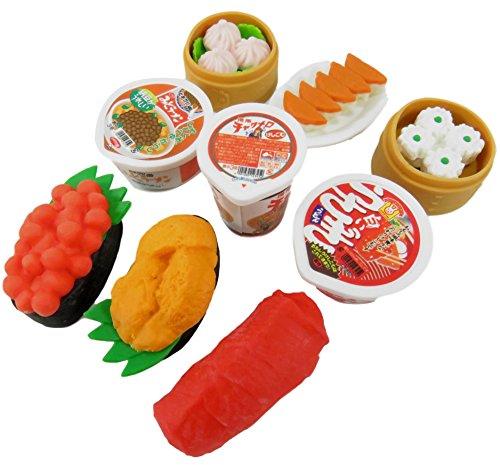 Unbekannt Mini-Radiergummis zum Selbernehmen von Lebensmitteln (9 Stück)