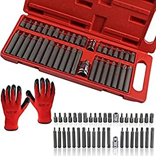 MultiWare 40 piece Hex Star Torx Spline Socket Bit Set Tool Kit Garage Tools Equipment