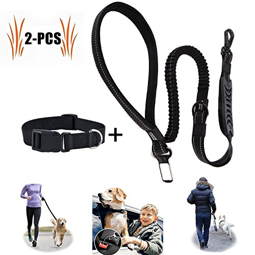 Hunde Sicherheitsgeschirr Auto, Hunde-Sicherheitsgurt für Auto-mit Extra Elastischer Ruckdämpfung, Hundegurt Sicherheitsgeschirr (Sicherheitsgeschirr)