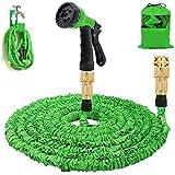 Gartenschlauch 50Ft erweiterbar Wasserschlauch Rohr - 3-mal erweitern flexiblen Schlauch 8-Pattern-Spritzpistole Anti-Leckage Schlauch Messing Schlaucharmaturen