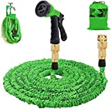 Gartenschlauch 50Ft erweiterbar Wasserschlauch Rohr - 3-mal erweitern flexiblen Schlauch 8-Pattern-Spritzpistole Anti-Leckage Schlauch Messing Schlaucharmaturen