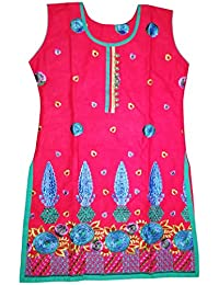 DS FASHION Pink And Blue Salwar Suit Set (With Dupatta And Patiala Salwar)