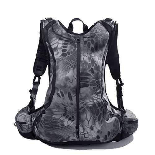 Reebow Gear 20L Militaer Taktische EDC Assault Kombat Rucksack Wasserdicht Leichtgewicht Camping Bladder Backpack Typhon Black Camo