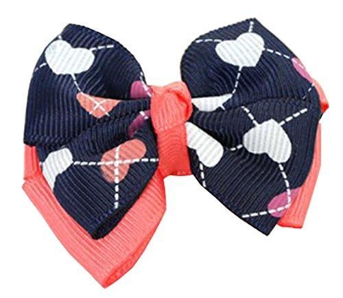 [coeur] de barrettes 7PCS bowknot pour les petites filles