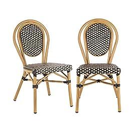 blumfeldt Montpellier BL – Chaise de Jardin, Nettoyage Facile, Cadre en Aluminium, Empilable, Résistante aux intempéries…