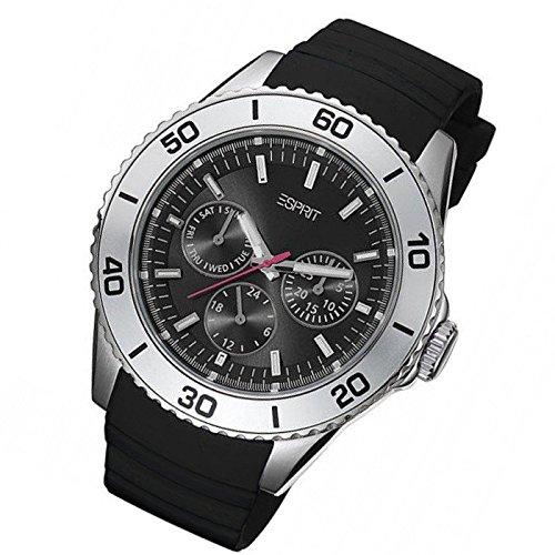 Esprit Unisex Watch Analogue Rubber Quartz ES103622003 Deviate