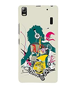 Vizagbeats Inbody Music Back Case Cover for Lenovo A 7000