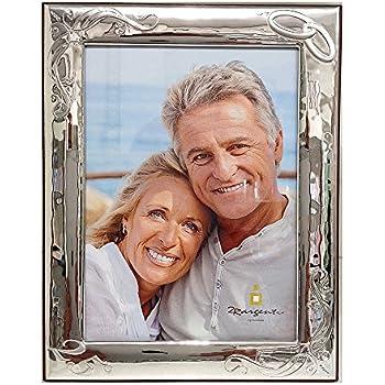 Anniversario Di Matrimonio Wikipedia.Cornice Anniversario Matrimonio 25 50 Con Fedi Argento Bilamina 2r Argenti 18x24 V