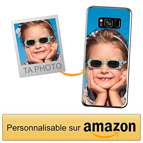Coverpersonalizzate.it Coque Personnalisable pour Samsung Galaxy S8 avec ta Photo, Image ou Inscription. Étui Souple en TPU Gel Transparent. Impression de qualité supérieure