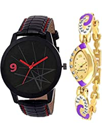 Kairos Analogue Round Dial Super Quality Branded Combo Wrist Watch - For Couple
