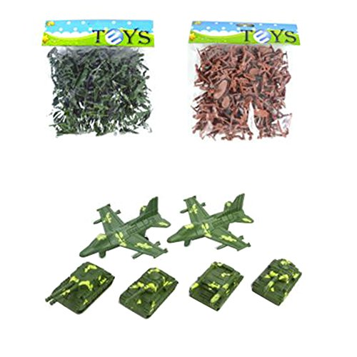 Toy Soldiers Army Men Action-Figur-Models Toy Geschenke / Toy Tanks -200PCS (Male Model-figur)