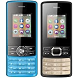 I KALL 1.8 Inch (4.57 Cm) Dual Sim Feature Phone Combo - K24 (Blue) And K25 (Black)