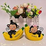 Kaige Tischdekoration Dekorative Banane Affe Harz Handwerk