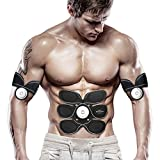 Elektrostimulatoren EMS-Muskel-Anreger, elektronischer Bauchmuskel-Toner-Maschinentrainer, intelligenter tragbarer Hauptab-Toner-ABS-Trainer für Männer Frauen, Körper-Eignungs-Training, das Maschine a