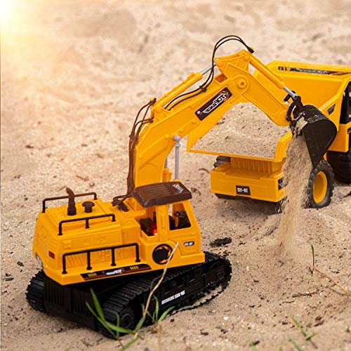RC Auto kaufen Baufahrzeug Bild 4: New Top Race® 7-Kanal voll funktionsfähiger Bagger, elektrischer Bautraktor mit RC Fernbedienung (TR-111)*