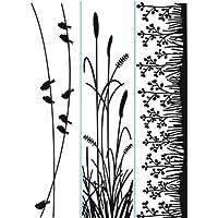 Darice 1218-81 Prägeschablone, Natur, Plastik, transparent, 3,5 x 14,5 x 0,4 cm