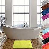 MSV Badteppich Badvorleger Duschvorleger Kieselstein Badematte waschbar, schnelltrocknend, rutschfest 40x50 cm – Grün