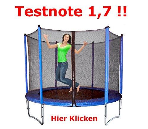 Trampolin-120-kg-Tragkraft--305-cm-mit-KLAPPBAREM-Sicherheitsnetz-TVGS-CE-Family-Gartentrampolin-Kindertrampolin-rcee-Izzy-Sport