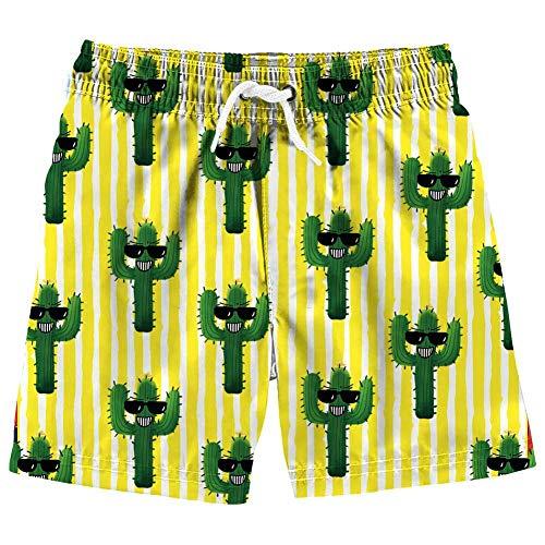 Vogseek Jungen Sommer Coole Sonnenbrillen Print Badehose Kinder Komfort Atmungsaktiv Schnell Trocknend Badehose Beachwear Shorts