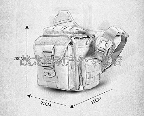 GOUQIN Outdoor Rucksack Klassische Mode Multifunktionshebel Schultergurt Messenger Bag Outdoor Rucksack Braun