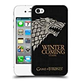 Official HBO Game of Thrones Stark House Mottos Hard Back Case for Apple iPhone 4 / 4S