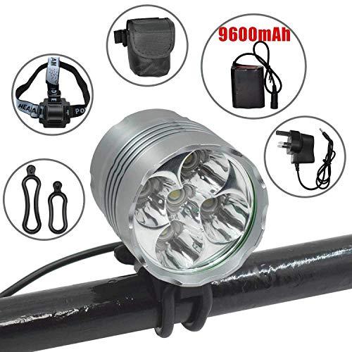 MUTANG LED-Frontscheinwerfer-Fahrradlichter, 6000 Lumen 5LED-Scheinwerfer-Scheinwerfer-wasserdichtes Radfahren-Fahrradlichter, Aluminium Superhelles Fahrradlicht