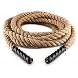 Capital Sports Power Rope - Corde cross-training de musculation/fitness (corde de chanvre, idéal pour entrainement de pompier/militaire ou pour jeu enfant comme tir à la corde)