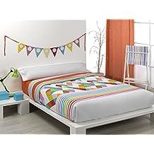 Quilt & CO Kayla - Juego de funda nórdica para cama de 150 cm, 240 x 220 cm, color naranja