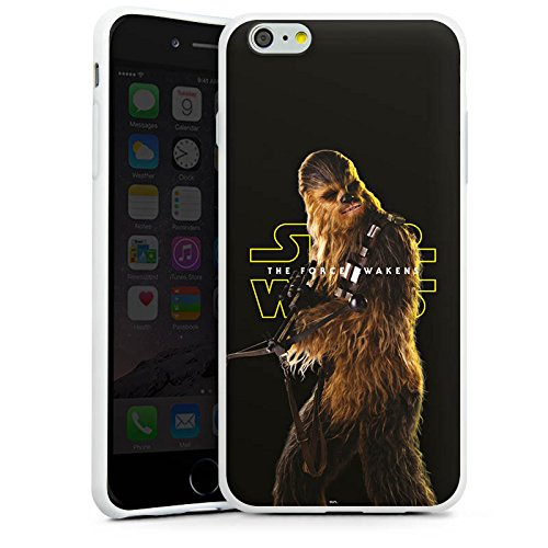 Apple iPhone 7 Silikon Hülle Case Schutzhülle Star Wars Merchandise Fanartikel Chewbacca Silikon Case weiß
