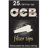 OCB - Boquillas para cigarrillos de liar (25 librillos de 50 páginas)