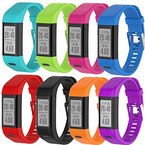 Preisvergleich Produktbild Sansee Armband Armband für Garmin Vivosmart HR +, Ersatz Silikon Band Strap Wristband (Garmin Vivosmart HR+, Schwarz)