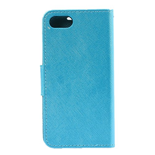 Hülle für iPhone 7 plus , Schutzhülle Für iPhone 7 Plus Kreuz Textur Horizontale Flip Leder Tasche mit Halter & Card Slots & Wallet ,hülle für iPhone 7 plus , case for iphone 7 plus ( Color : Blue ) Blue